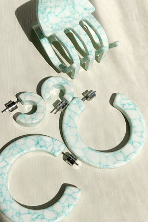 XL Kate Hoops in MINTED PORCELAIN