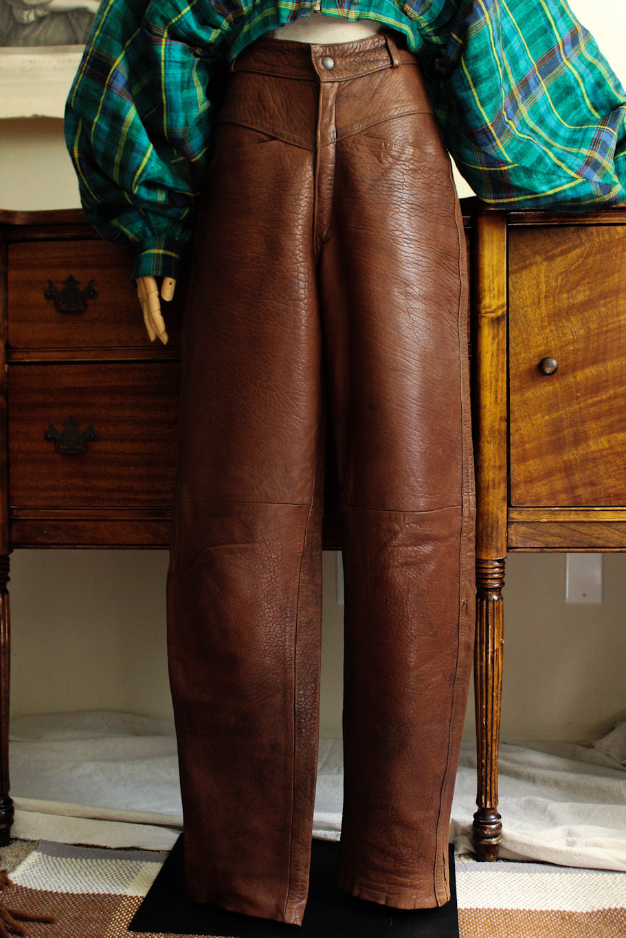 1980's GIRBAUD Leather Pants