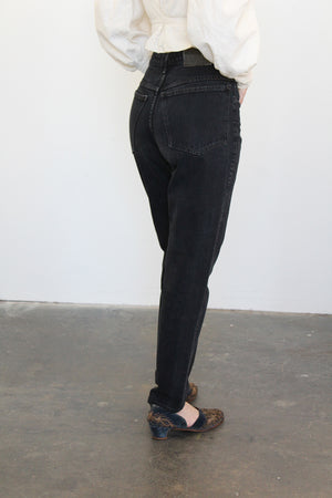 1980's GIRBAUD Black Jeans