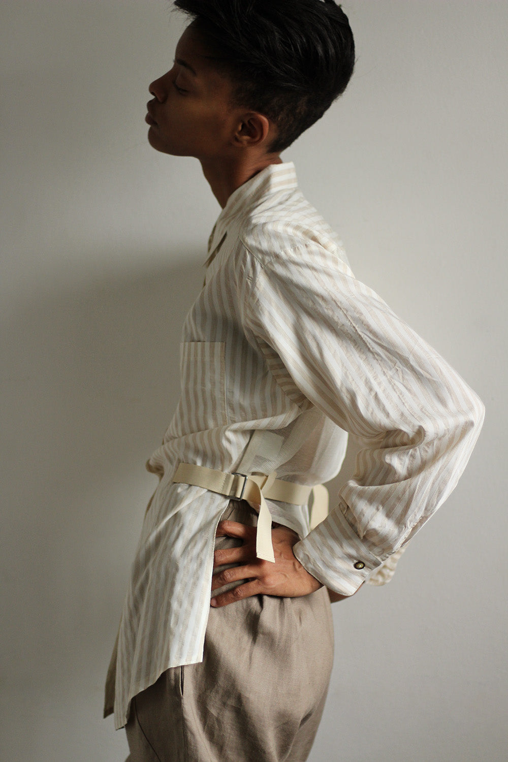 1980's French Buckle Back Shirt  |  VINTAGE