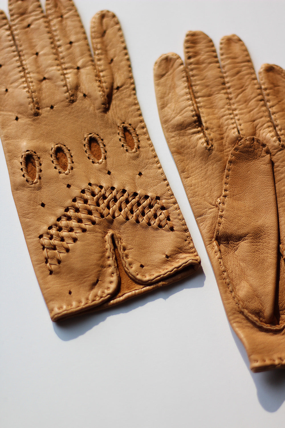 Butterscotch Leather Driving Gloves