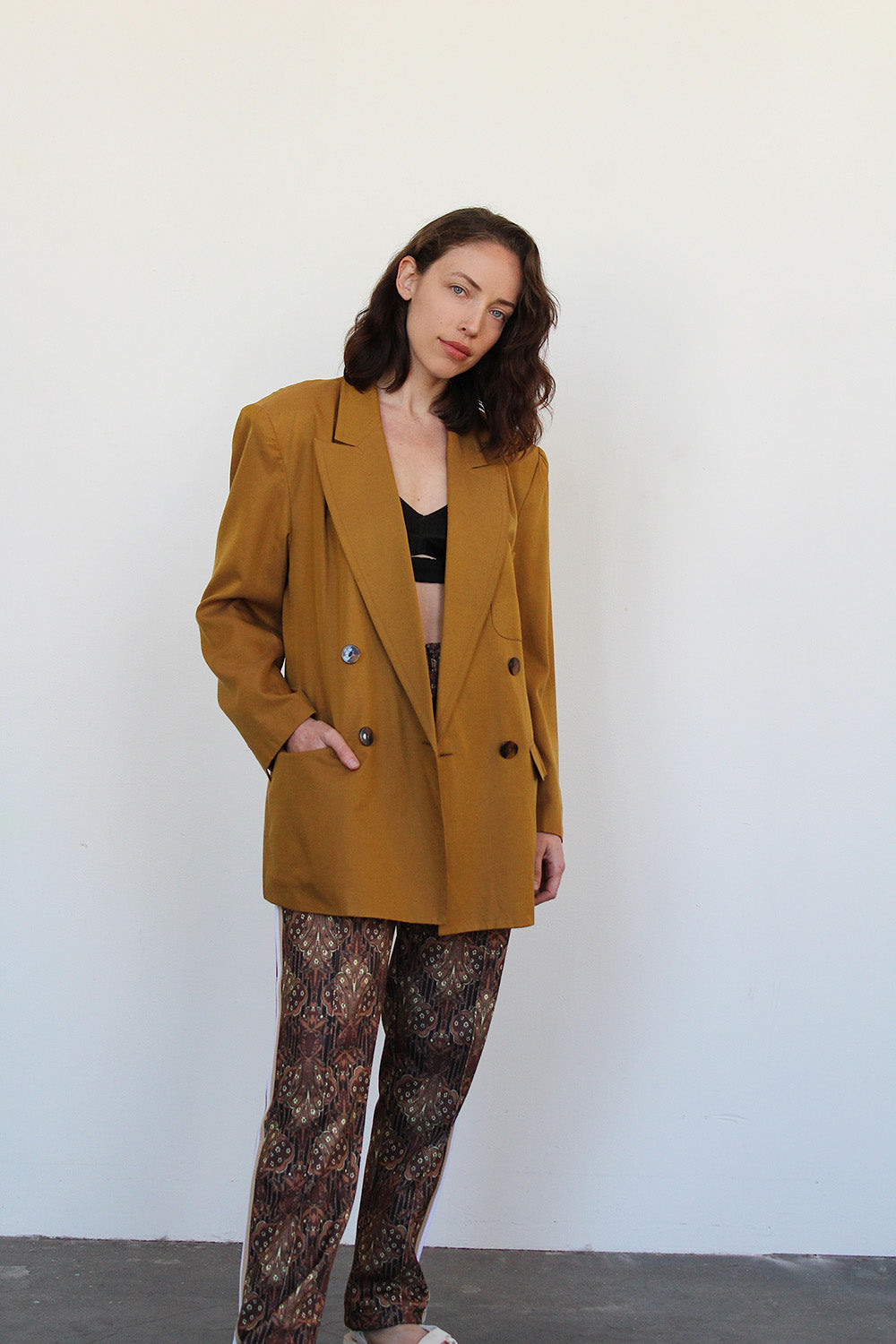 1980's Butterscotch Silk Blazer