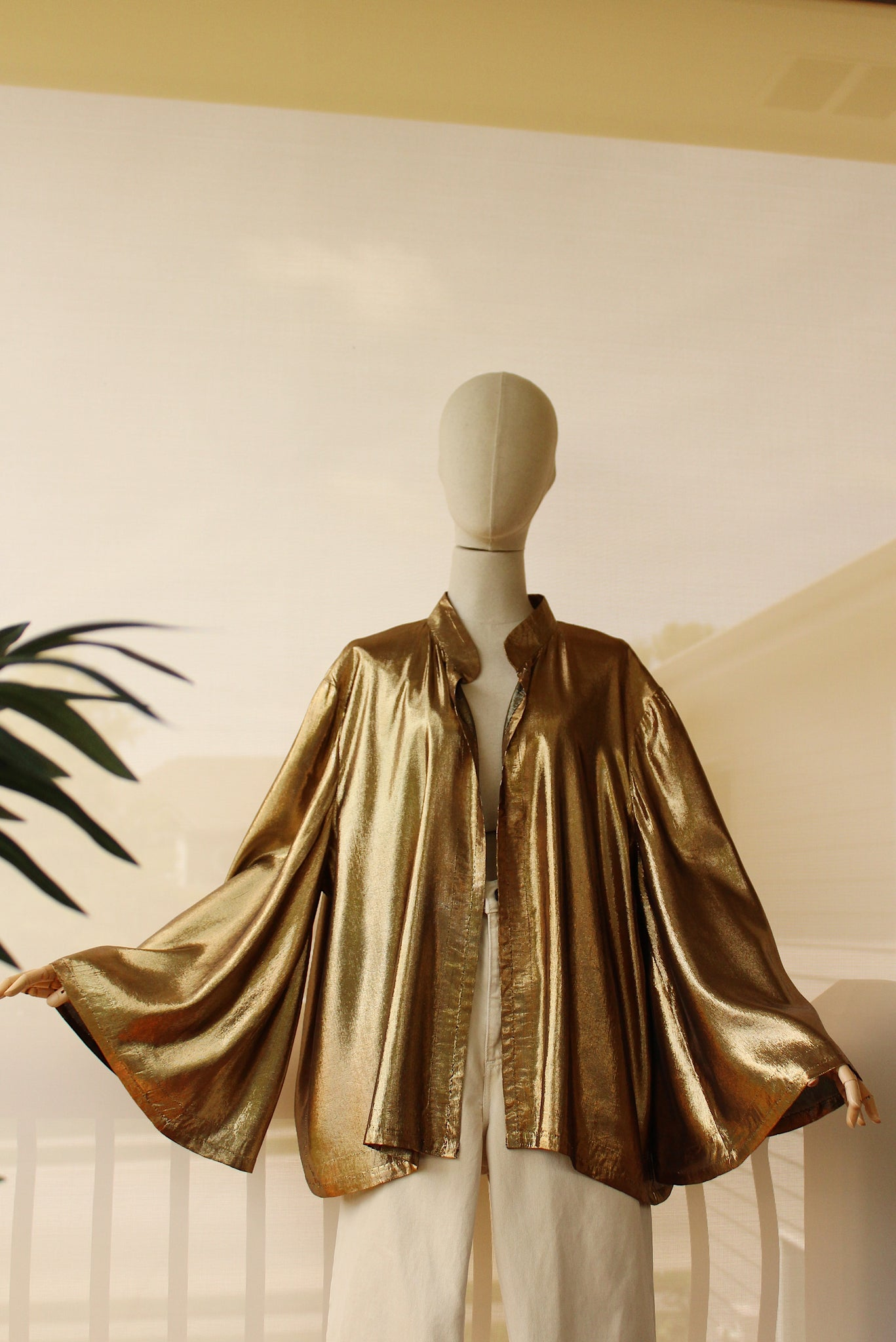 1980's Gold Silk Lamé Jacket