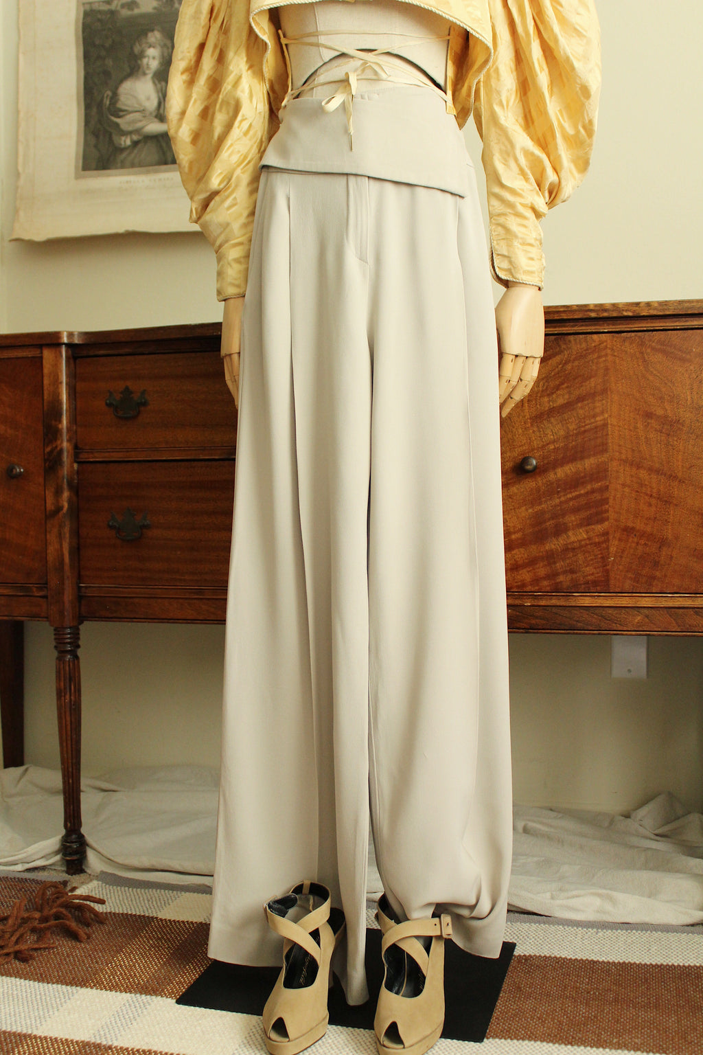 1990's ARMANI Silk Wrap Front Trousers