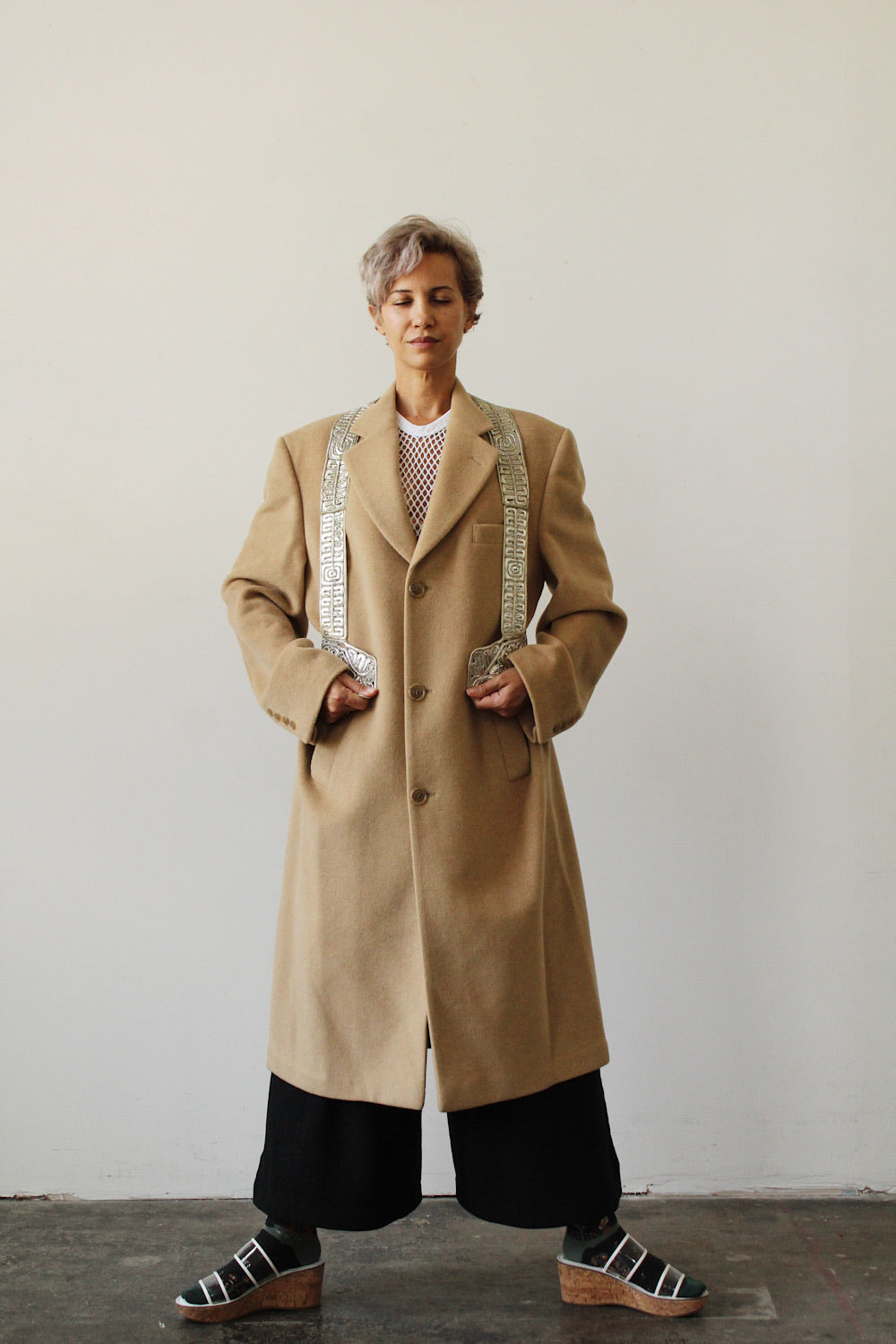 1990's RALPH LAUREN camel hair topcoat