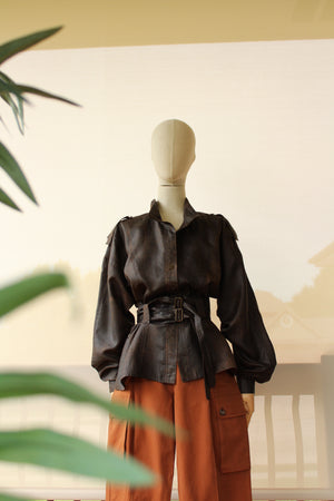 "1980's Silk ""Leather-Look"" Jacket"