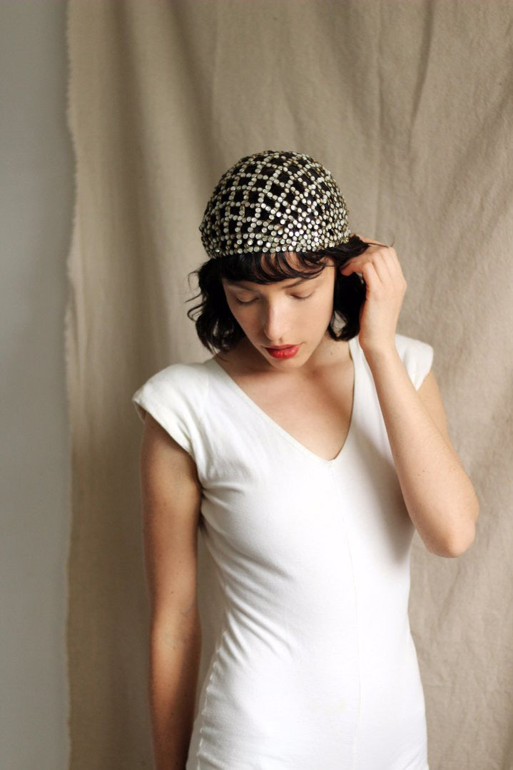 1927 Jeanne Lanvin Numbered Couture Juliet Cap, Documented
