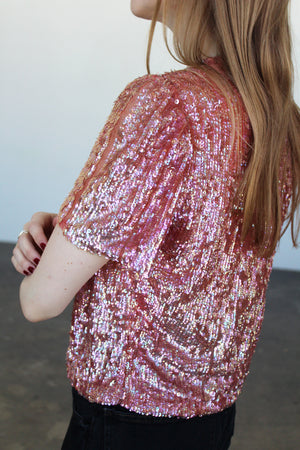 1930's Pink Sequined Jacket