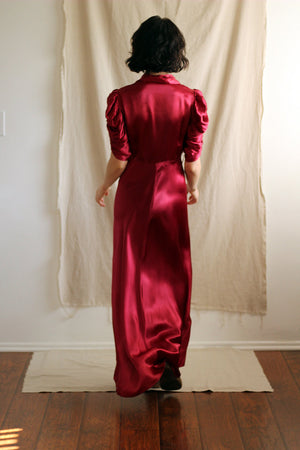 Shirred Sleeve Gown