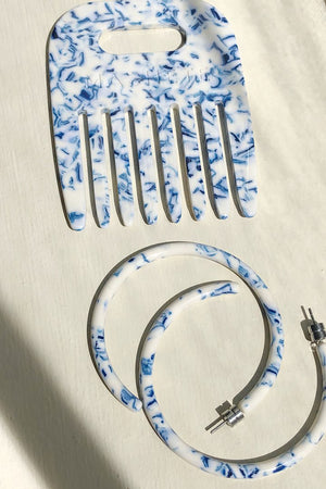 Large Hoops in TOILE