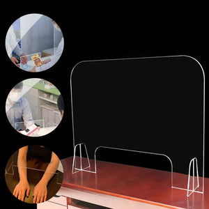 "30""W x 24""H Clear Acrylic Sneeze Guard/Shield, Easy Install for Restaurant, Grocery Stores, Salons, Retailers, Office Desk Counter"