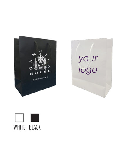 "Matte Laminated Paper Euro tote (S) 8""W x 4""D x 10""H -157gsm Item# SMLP_080410"