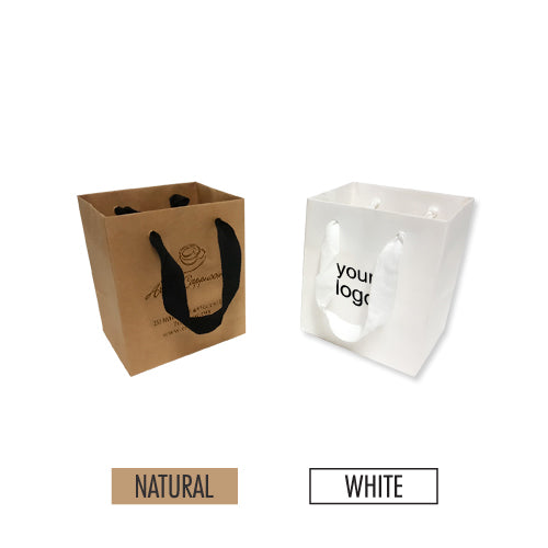 "Manhattan Style Heavy Weight Paper Bags (XS) 5"" x 4"" x 6"" - 200gsm Item #SHKP_050406"