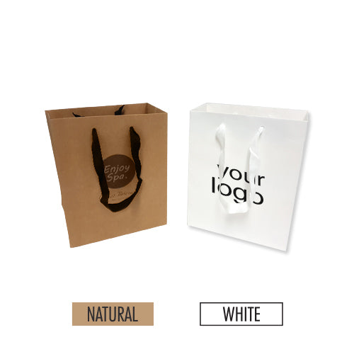 "Manhattan Style Heavy Weight Paper Bags (S) 8"" x 4"" x 10"" - 200gsm Item #SHKP_080410"