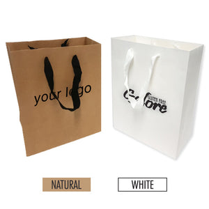 "Manhattan Style Heavy Weight Paper Bags (M) 10"" x 5"" x 13"" - 200gsm Item #SHKP_100513"