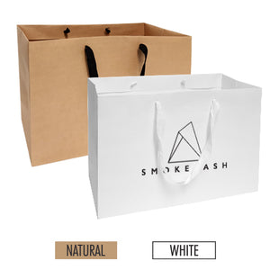 "Manhattan Style Heavy Weight Paper Bags (L) 16"" x 6"" x 12"" - 200gsm Item #SHKP_160612"