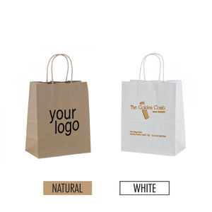 "Eco-friendly Paper Bag 8"" x 4"" x 10"" - Item #SKPB_080410"