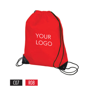 "Drawstring Sports Backpack - 13.5""W x 16""H - 210D Polyester"