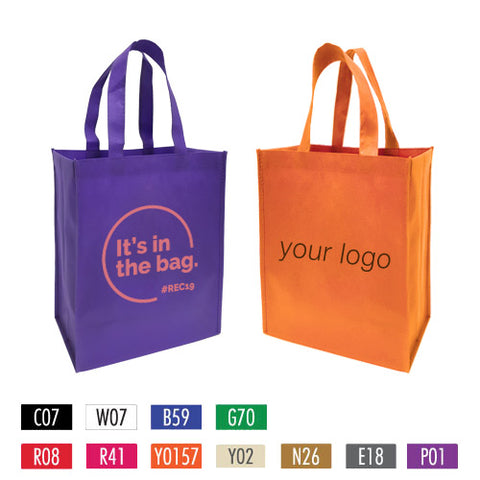 "Promotional Non-woven Shopping Bags - Medium 12"" x 6"" x 14"""