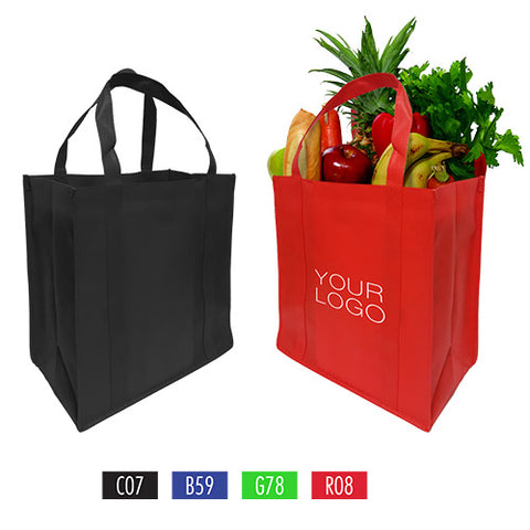 "Grocery Non-woven Shopping Bags - 15"" x 8"" x 15"""
