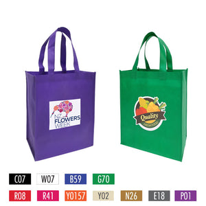 "Full Colour Printing Non-woven Shopping Bags - Medium 12"" x 6"" x 14"""
