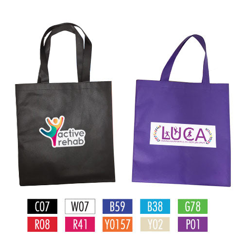 "Full Colour Printing Non-Woven Bag 15"" W x 16"" H - 80gsm"
