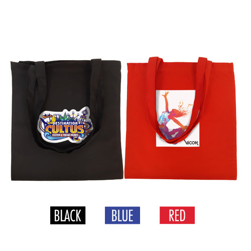 "Full Colour Printing Canvas Tote Bag 15"" W x 16"" H -5oz Coloured Bag"