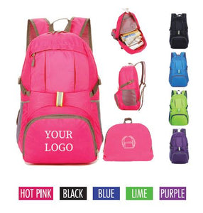 "Foldable Backpack 11""W x 6""D x 17""H"