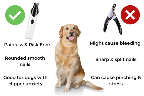 why choose nail grinder over clippers for dog