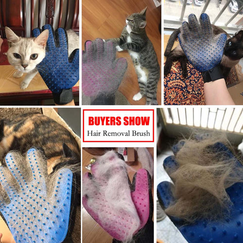 deshedding pet hair removal gloves