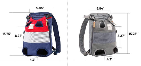 Pet Carrier Backpack - Front Bag Carrier Sizing Chart
