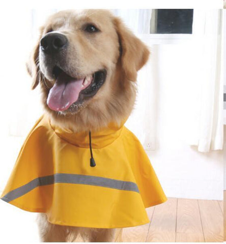 Reflective tape large dog raincoat dog coat