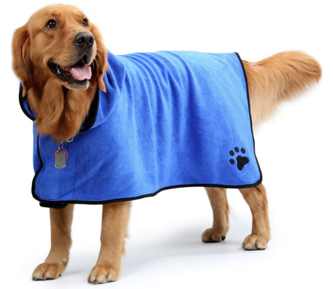 dog bathrobe ultra absorbent and quick drying