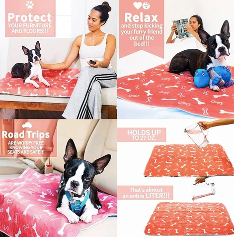reusable dog bed mat is convenient for potty training puppies