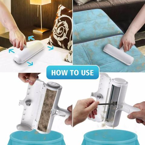 how to use the dog hair remover