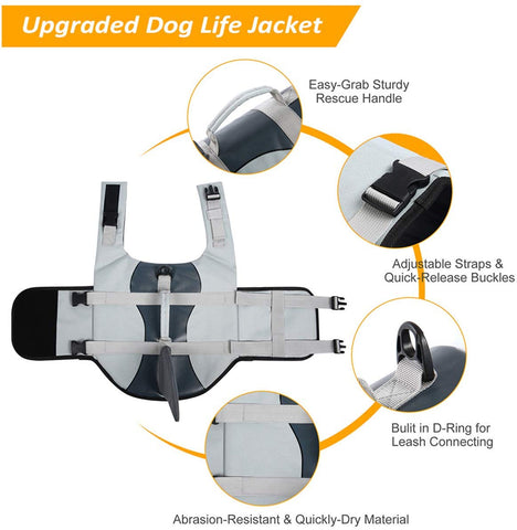 new shark life jacket for dogs