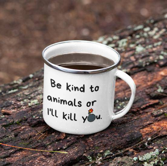 Be Kind Enamel Mug-Baxter & Bella