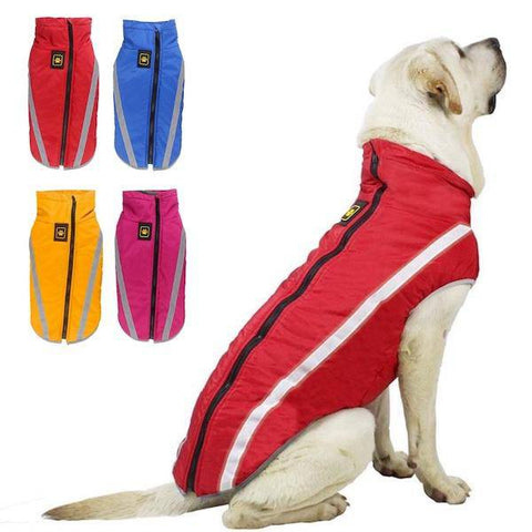 Medium and Large Dogs Waterproof Winter Fleece Jacket-dog coat-Baxter's Petshop