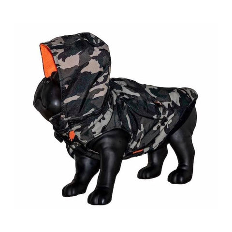 Morikukko WOOF CAMO Waterproof Hoodie Jacket with Backpack-dog coat-Baxter's Petshop