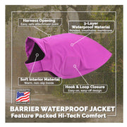 Barrier Waterproof Dog Jacket-dog coat-Baxter & Bella