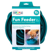 Fun Feeder Slo-Bowl - Teal-dog puzzle toy-Baxter's Petshop