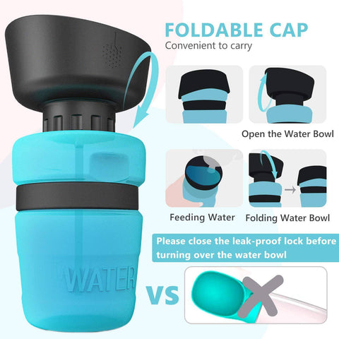 Portable Squeezable Dog Water Bottle-water bottle-Baxter & Bella