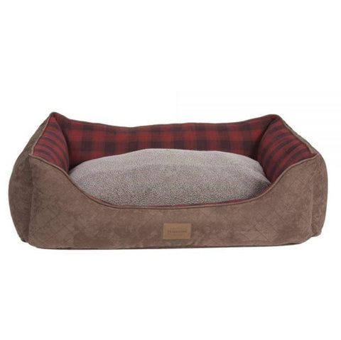 Pendleton Red Ombre Kuddler Bolster Dog Bed with Removable Cover