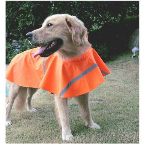 Yellow Hooded Slicker Poncho for Small & Big Dogs-dog coat-Baxter & Bella