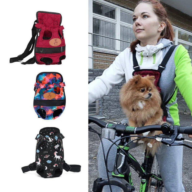 Chest Carrier Backpack for Small Dogs-pet carrier-Baxter & Bella