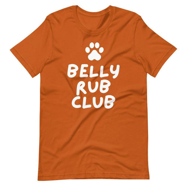 Belly Rub Club Short-Sleeve Unisex T-Shirt-Baxter & Bella
