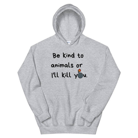 Be Kind To Animals Cartoon Unisex Hoodie-Baxter & Bella