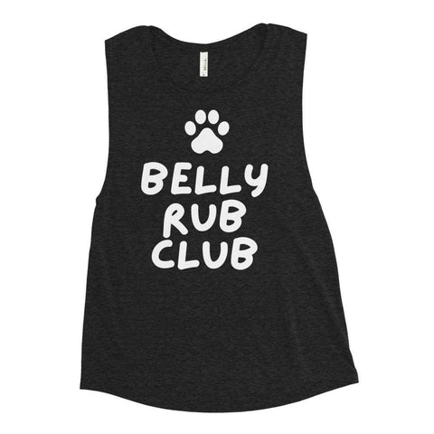 Belly Rub Club Ladies' Muscle Tank-Baxter & Bella