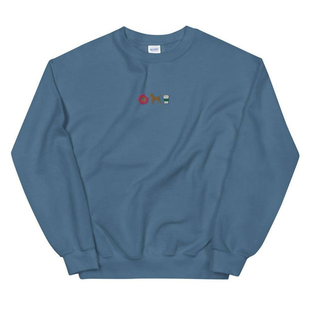 Donuts, Dogs & Coffee Embroidered Unisex Sweatshirt-Baxter & Bella