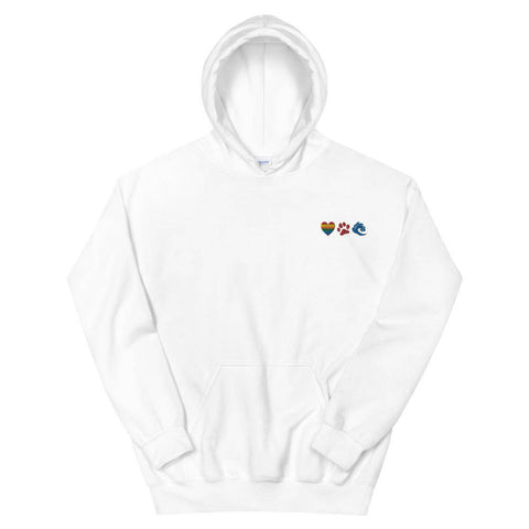 Love is Love & Dogs & Waves Embroidered Unisex Hoodie-Baxter & Bella